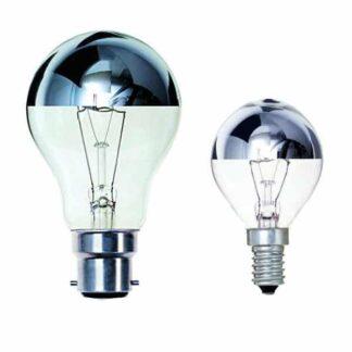 Crown Silver Top Light Bulbs GLS Golf Ball